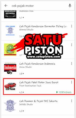 Cek Pajak Motor Online Wilayah Jawa Barat? Pakai Aplikasi Ini Sob !!!