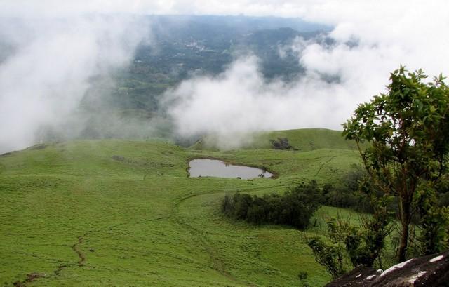 chembara peak Heart shaped lake
