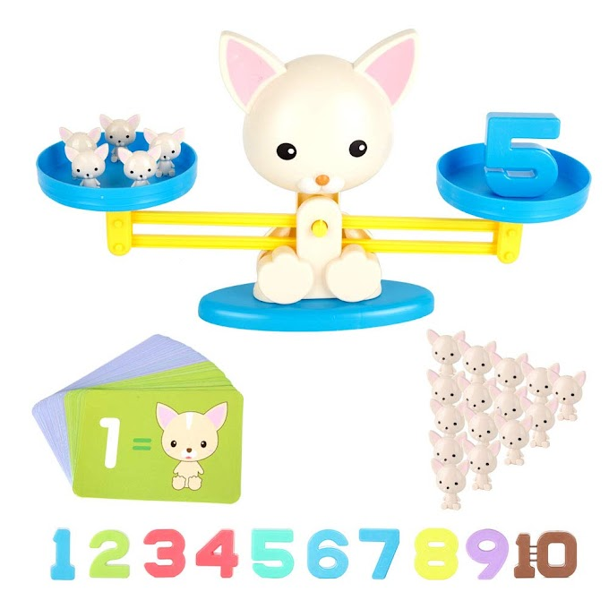 STEM Animal Toys Puppy Weighing Scale