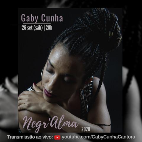 Live especial da cantora Gaby Cunha com show Negr'Ama