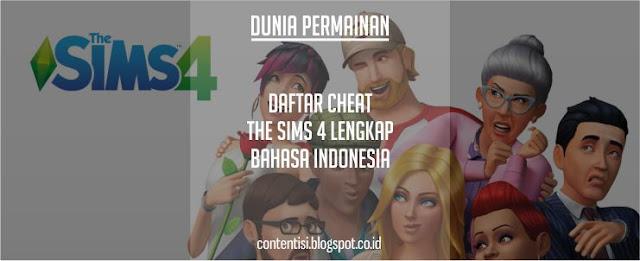 Daftar Cheat The Sims 4 Lengkap Bahasa Indonesia