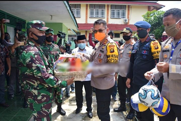 Tingkatkan Sinergitas TNI-Polri, Kapolda Jambi Sambangi Koramil Bangko