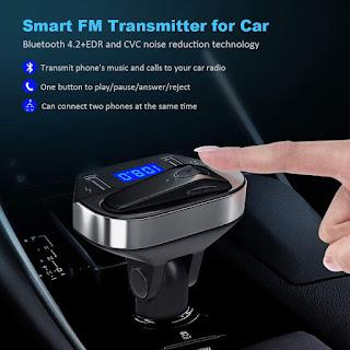 KIT TRASMETTITORE FM BLUETOOTH AUTO ANDOWL V6