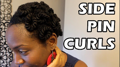 Side Pin Curls on Natural Hair using Giovanni 2chic Ultra Moist (Protective Style)