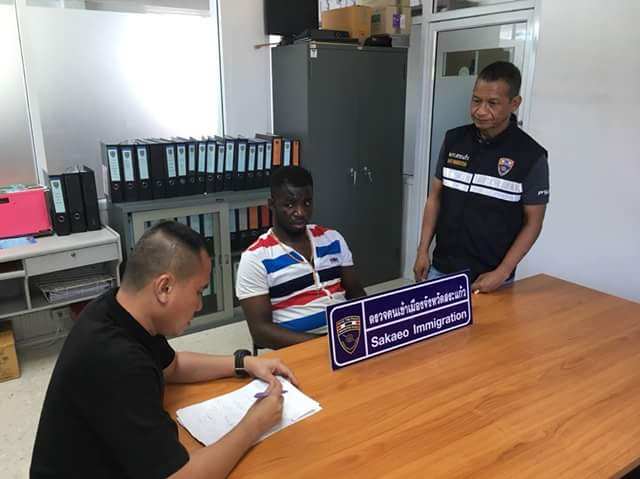 Photos: 28-year-old Nigerian man arrested in Thailand for unlawful entry