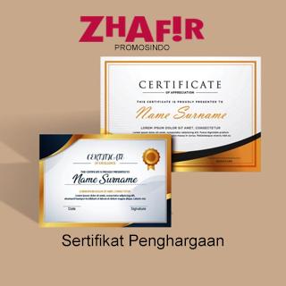 Cetak Sertifikat Penghargaan