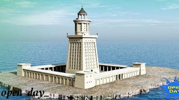 منارة الإسكندرية القديمة إحدى عجائب الدنيا السبع القديمة