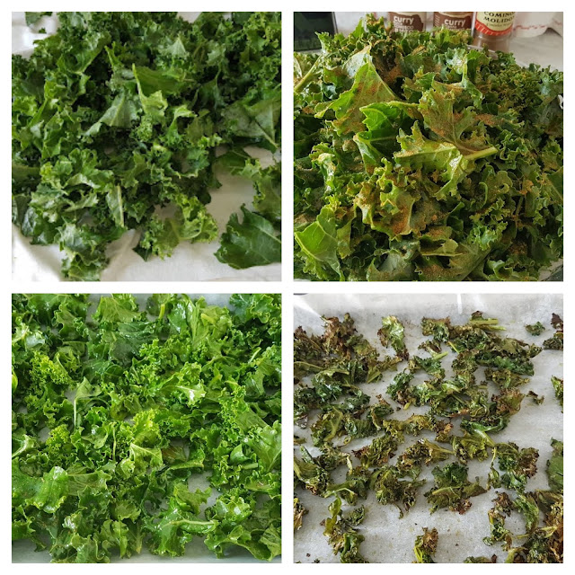 Kale gratinado con especias   #lunessincarne