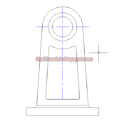 gambar sederhana extend autocad