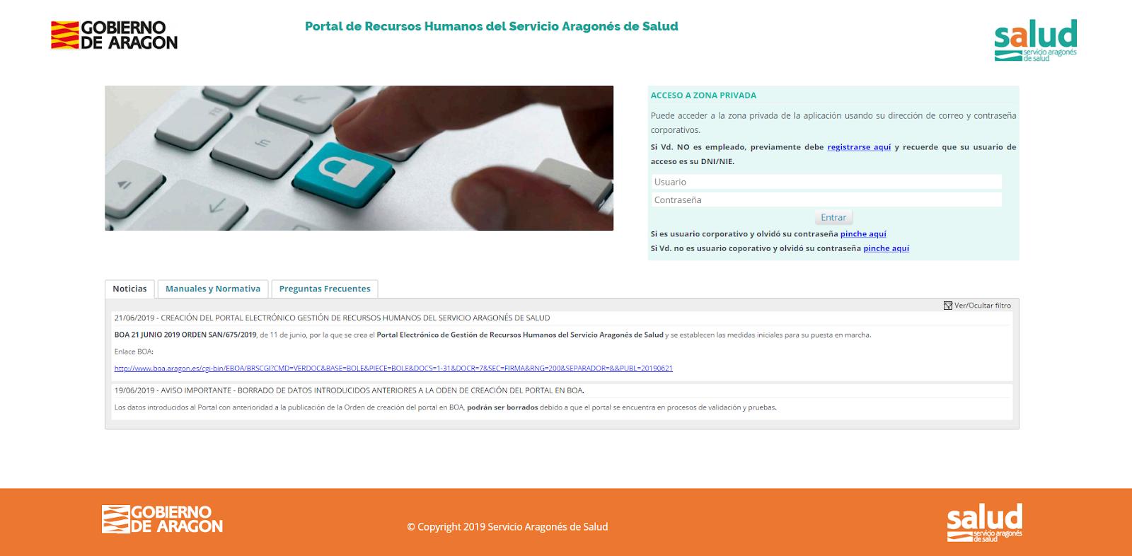 Nuevo portal de Recursos Humanos del SALUD