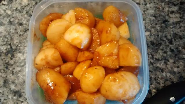 Brunede kartofler: patatas caramelizadas