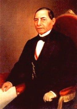 Imagen de Benito Juárez sentado en el sillón presidencial