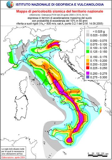 pericolosità sismica antisismica terremoto