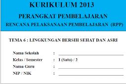 RPP Kelas 1 SD/MI Semester 2 Kurikulum 2013 Revisi Terbaru