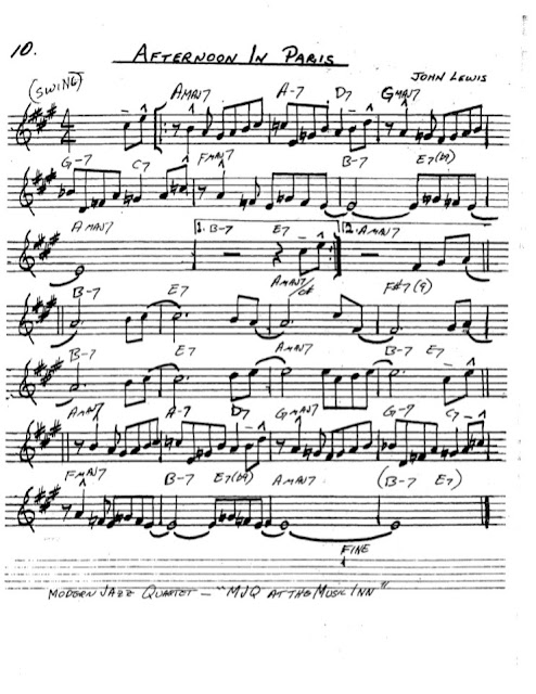 Partitura Saxofón John Lewis