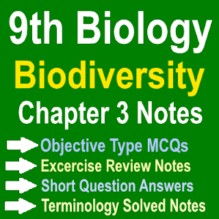Punjab Board Ninth Class Biology Notes Chapter Three