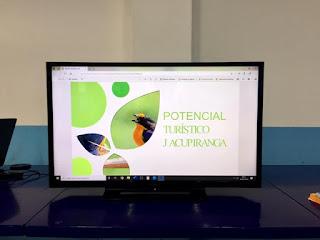 Alunos da Escola Professora Conceição Collaço participam de palestra sobre natureza, aves e turismo da região