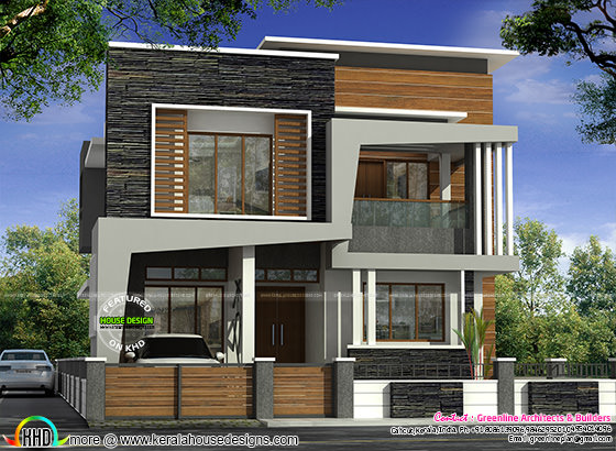40x50 modern kerala home architecture kerala home design for 40x50 house plans