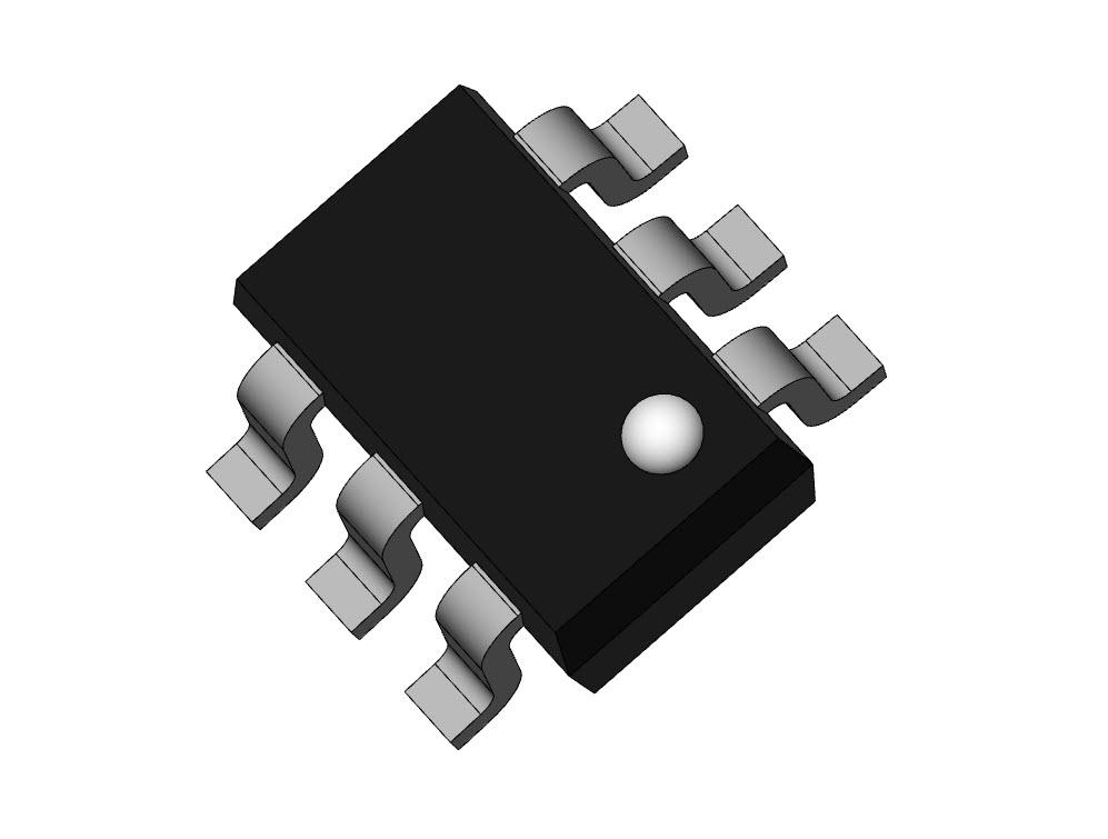 3D Model Electronics parts SOT363, SC70, EIAJ SC-70 6-lead SMD ...