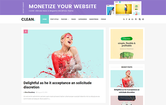 Clean Blogger Template