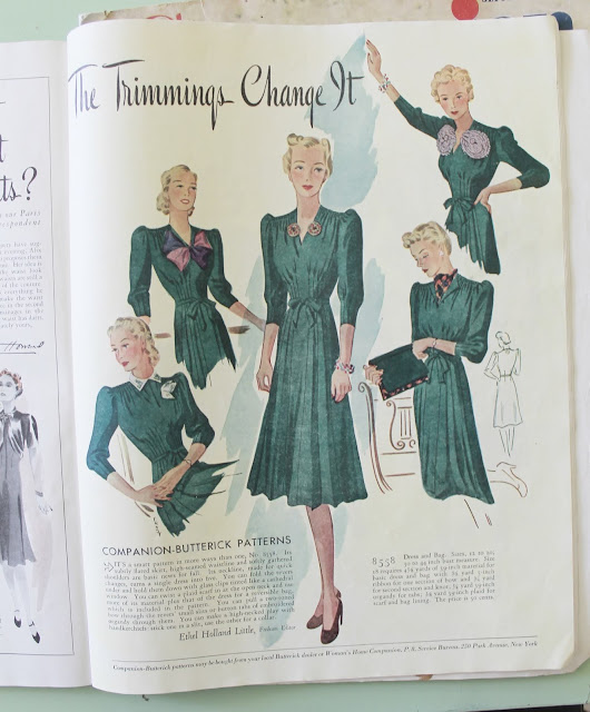 1930s and 40s womens home companion vintage fashion magazine
