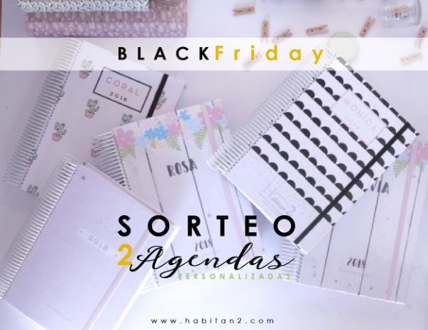 Sorteo de 2 agendas personalizadas 2018 diseñadas por Habitan2 | Adelántate al black friday | Diseño personalizado de papelería bonita y eventos