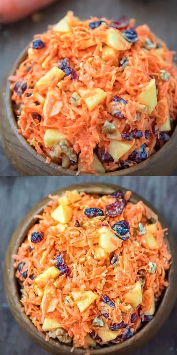 Best Shredded Carrot Salad with Cranberries