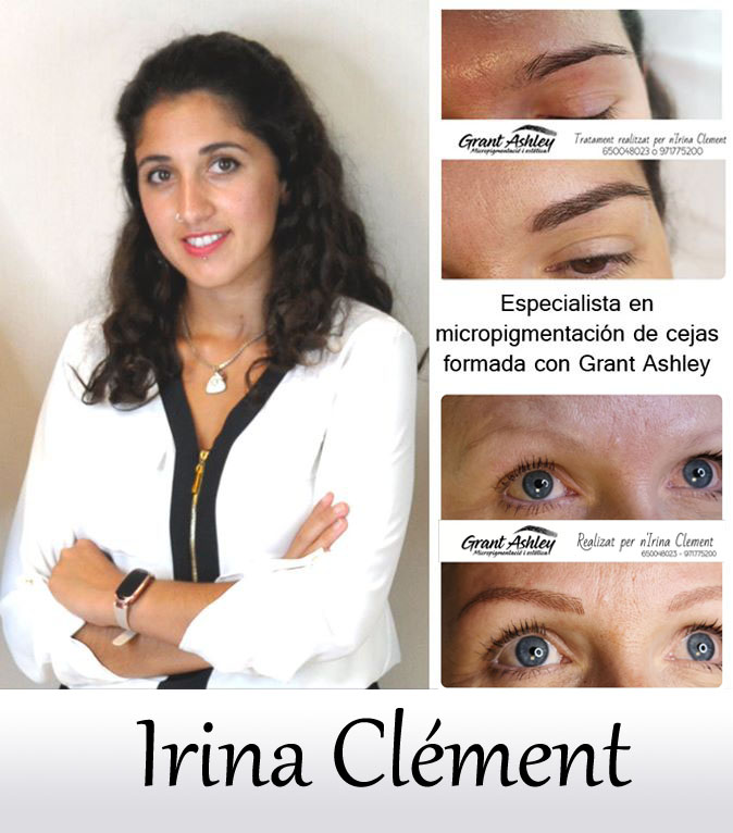 Irina Clément, micropigmentadora especialista en cejas