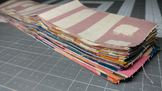Canvas strips for key fobs