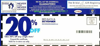 Bed Bath and Beyond coupons february