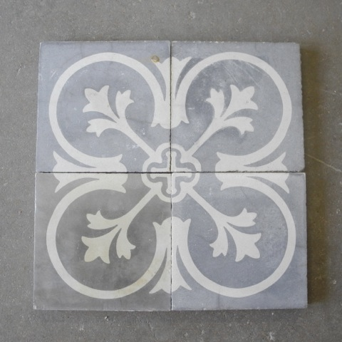19th Century Colored Cement Tile via Chateau Domingue as seen on linenandlavender.net