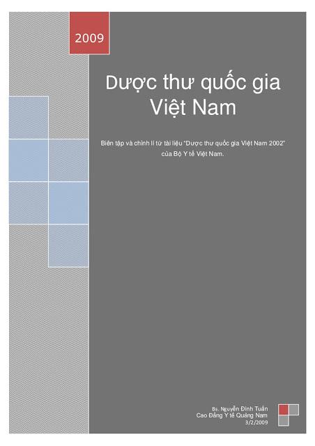 Dược thư quốc gia việt nam pdf mới nhất