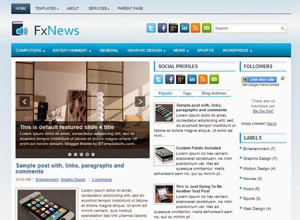 Fx News Blogger Template