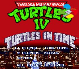 Teenage Mutant Ninja Turtles IV: Turtles in Time Online