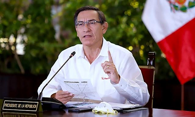 El presidente Martín Vizcarra