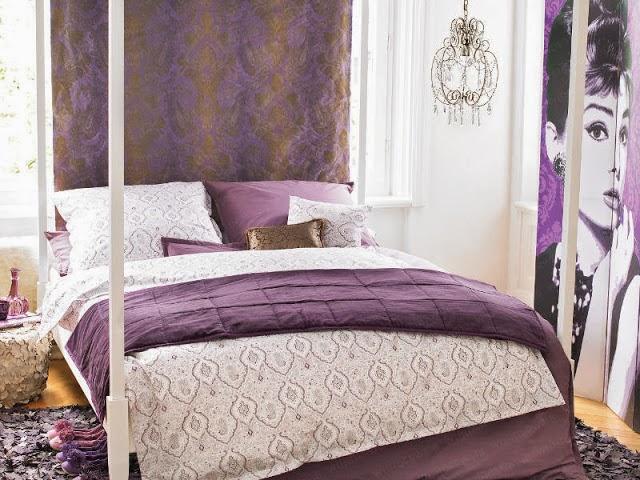 quartos planejados dormitorios morados lilas