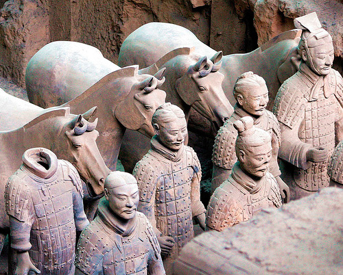tomb of shihuangdi Emperor qin's terracotta warriors and horses museum near xian, china is one of the most fabulous archaeological reserves in the world only a small portion of the believed 8,000 terracotta statues have currently been reassembled.