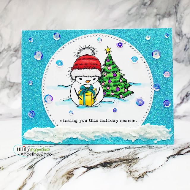 ScrappyScrappy: World Card Making Day #scrappyscrappy #unitystampco #worldcardmakingday #worldcardmakingday2019 #cardmaking #papercraft #stamping #quicktipvideo #youtube #snowglobecard #snowmancard #christmascard #holidaycard #simonsaysstamp #glittercardstock #unitystampsequins #cinderellasequins #copicmarkers #primamarketing #snowflakepaste