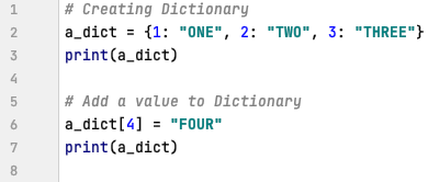 Adding new key to dictionary in Python