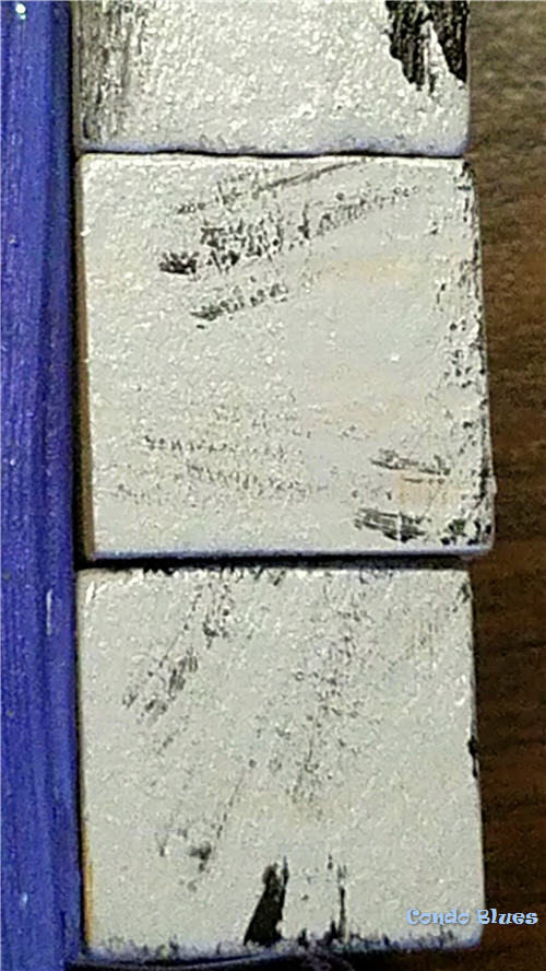 how to paint wood to look like stone