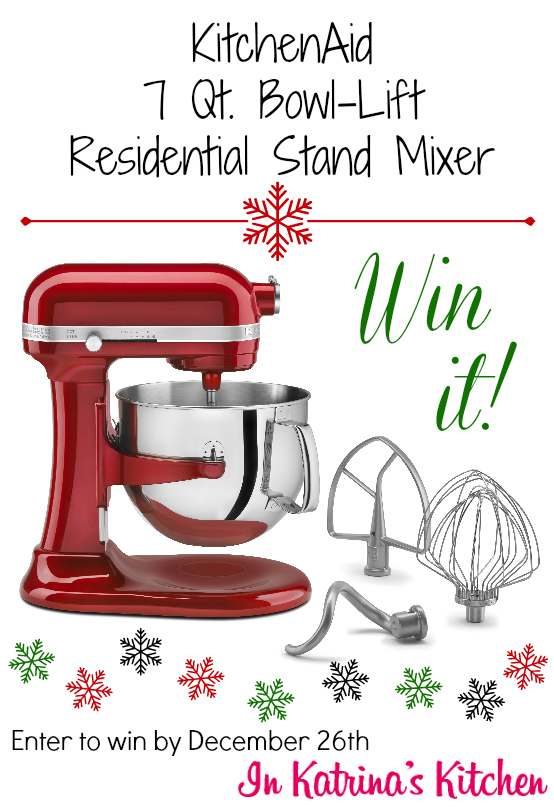 KitchenAid Giveaway: 7 Quart Residential Stand Mixer