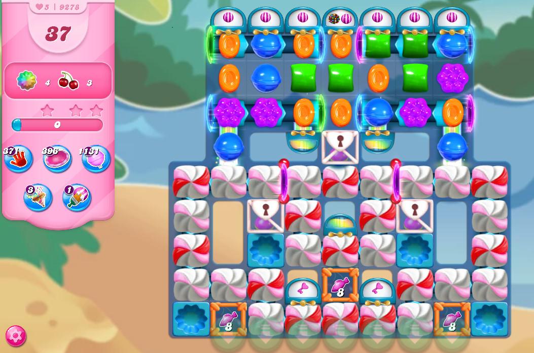 Candy Crush Saga level 9278