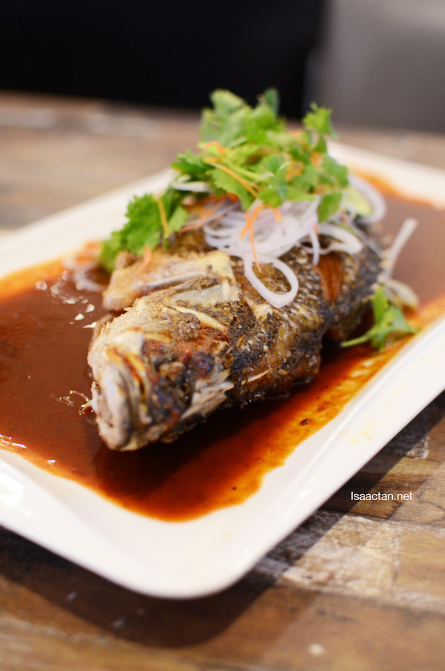 Seabass with Chilli Lime Sauce
