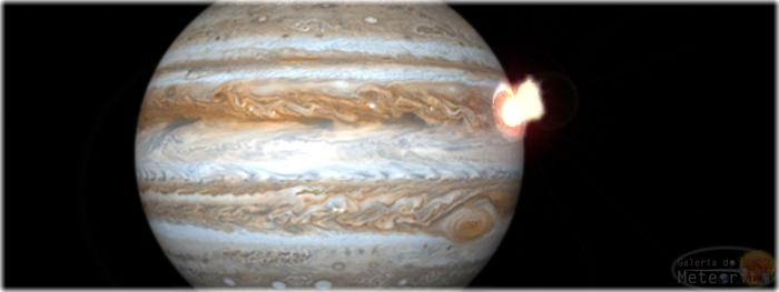 objeto asteroide ou cometa colide com Júpiter