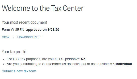 submit a new tax form