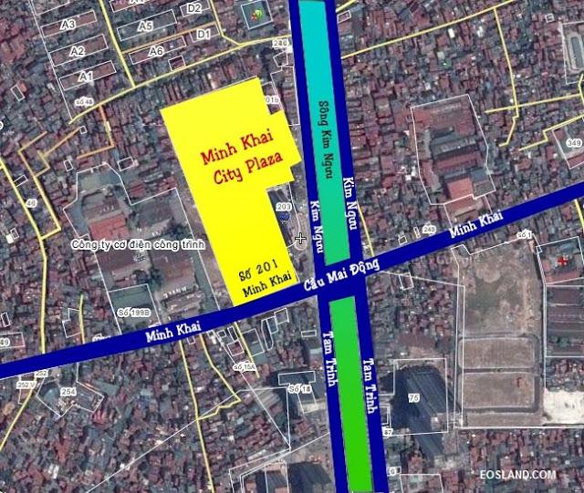 vị trí đắc địa dự án 201 Minh Khai