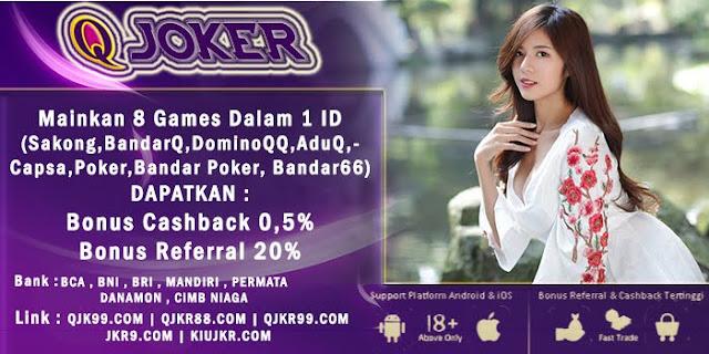 Image of Bonus Referral Terbesar Judi Sakong Online QJoker