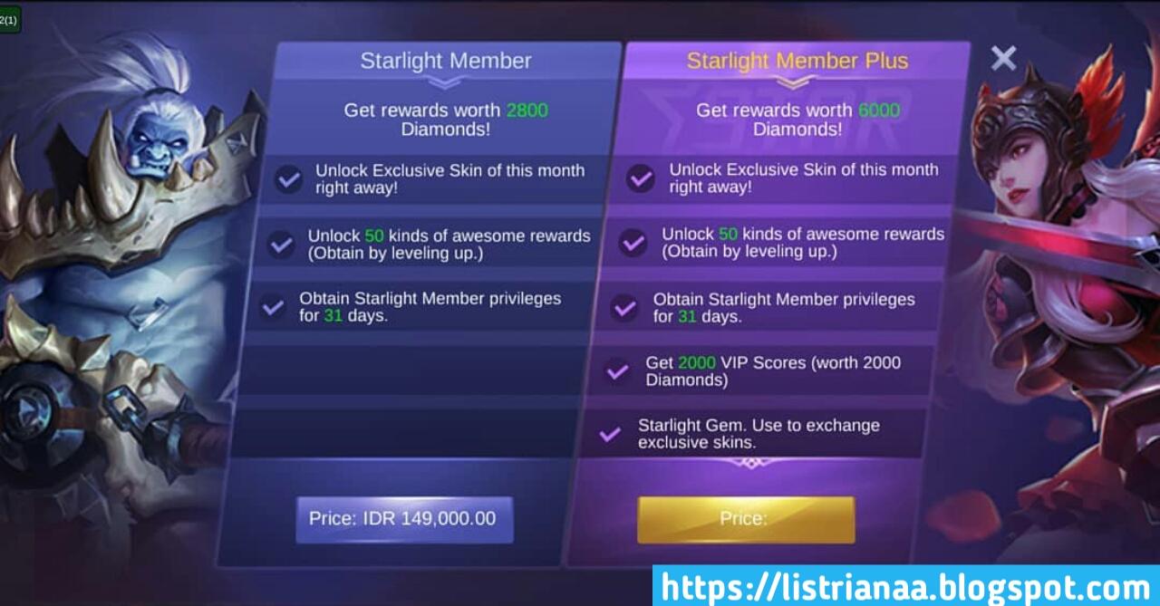 Tampilan Dan Fitur Baru Starlight Dapatkan Hadiah Setara 6000 Diamond Mobile Legends 5