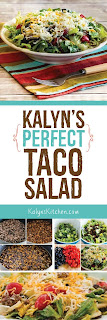 Kalyn's Perfect Taco Salad found on KalynsKitchen.com