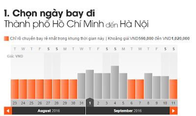 Giá vé máy bay đi Hà Nội tháng 9 Jetstar